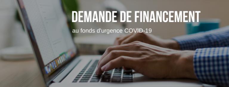 Demande de financement au fonds d'urgence COVID-19 pour les organismes communautaires